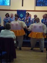 Pat and Kay perform Sisters at Kirkheaton