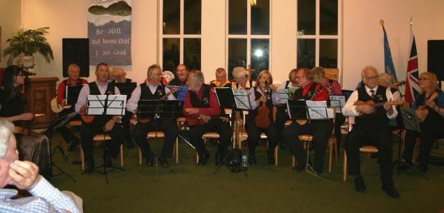 Friends of Beaumont Park Ukulele Group at Shepley Concert October 2014