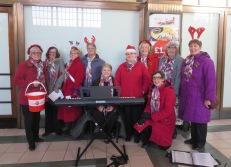 Singing Carols at Leeds Station for the Children's Heart Fund December 2014