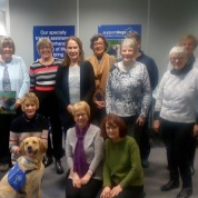 2018 Visit to Support Dogs to present a cheque for £500